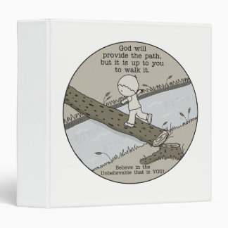 God Provides a Path 3 Ring Binder
