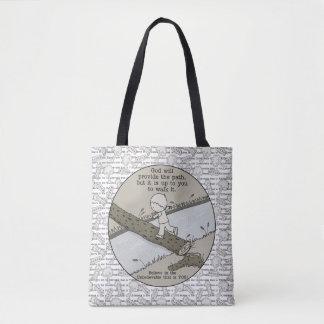 God Provides a Path Tote Bag