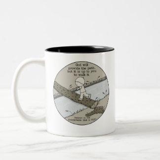 God Provides a Path Two-Tone Coffee Mug