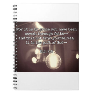 "God Quotes: Eph 2:8 -- ""Salvation by Grace"" Note Books"