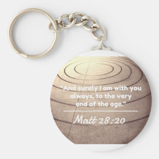 "God Quotes:Matt 28:20 -- ""With You Till The End"" Basic Round Button Keychain"