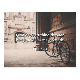 "God Quotes: Phil 4:13 -- ""God Gives Strength"" Postcard"