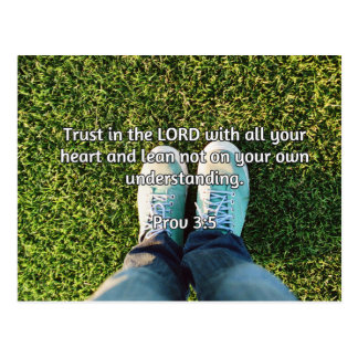 """God Quotes: Prov 3:5 -- """"Trust in the LORD"""" Postcard"""
