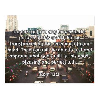 "God Quotes: Rom 12:2 -- ""Don't Conform"" Postcard"