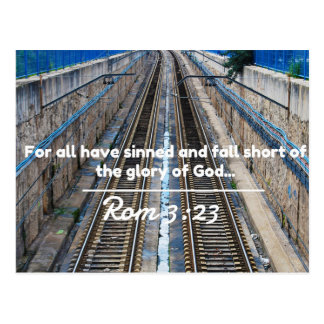 "God Quotes: Rom 3:23 -- ""All Have Sinned"" Postcard"
