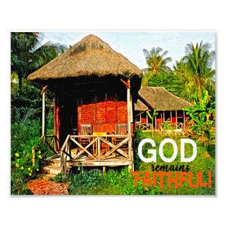 God Remains Faithful Christian Art Print Photograph