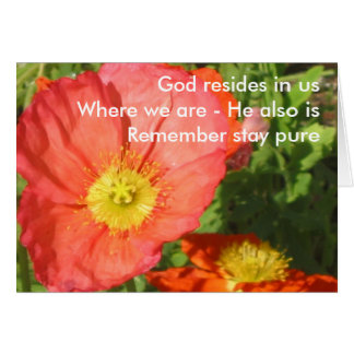 God Resides/Poppy Card