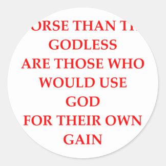 GOD ROUND STICKER