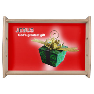 God's greatest gift serving tray