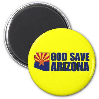 God Save Arizona 2 Inch Round Magnet