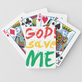 god! save me bicycle playing cards