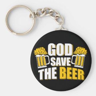 god save the beer basic round button keychain