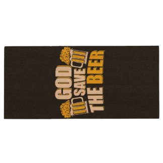 god save the beer wood USB 3.0 flash drive