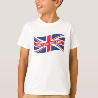 God Save the King with Union Jack T-Shirt