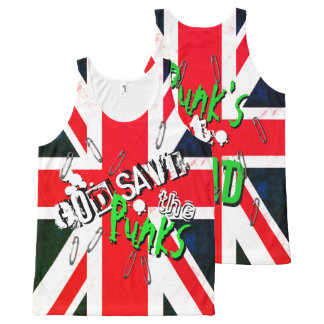 God Save the Punk's Not Dead Grunge Union Jack All-Over-Print Tank Top