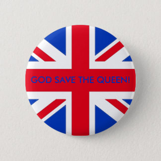 GOD SAVE THE QUEEN! 2 INCH ROUND BUTTON