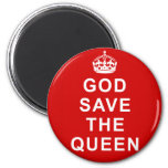 God Save the Queen Tshirts, Bags, Gifts 2 Inch Round Magnet