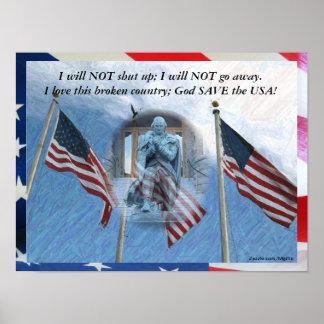 God Save the USA Poster
