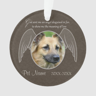 God Sent an Angel Pet Sympathy Custom