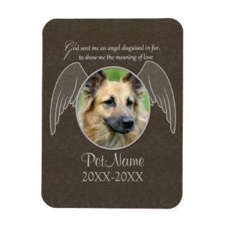 God Sent an Angel Pet Sympathy Custom Rectangular Photo Magnet