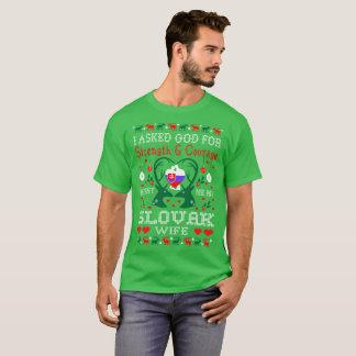 God Sent Slovak Wife Christmas Ugly Sweater Shirt