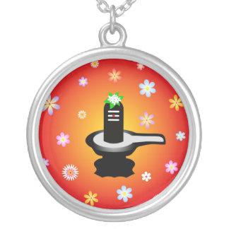 God Shivalinga and flowers - Necklace