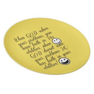God Solves Your Problem Plate