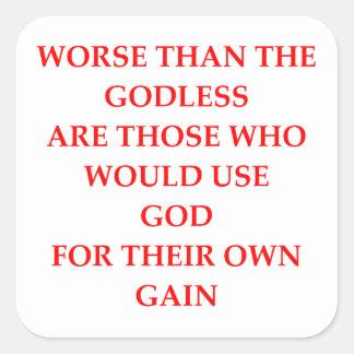GOD SQUARE STICKER