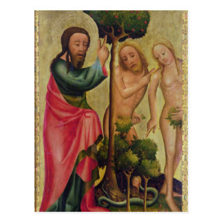 God the Father Punishes Adam and Eve Postcard