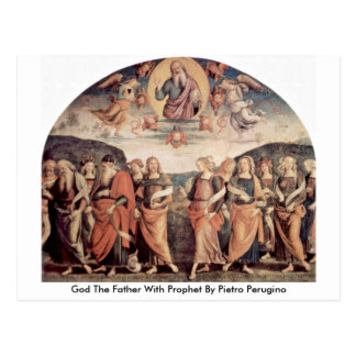 God The Father With Prophet By Pietro Perugino Postcard