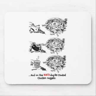 God Vs Fast Food Mouse Pad