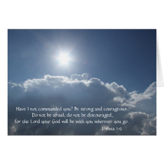 God will be with you (Joshua 1:9), Heavens Above! Card