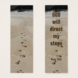 God will direct my Steps Proverbs 16:9 Mini Business Card