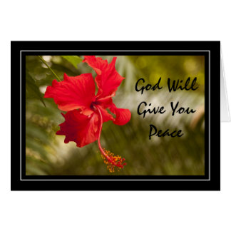 God Will Give You Peace Card