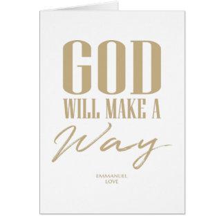 God will make a way card