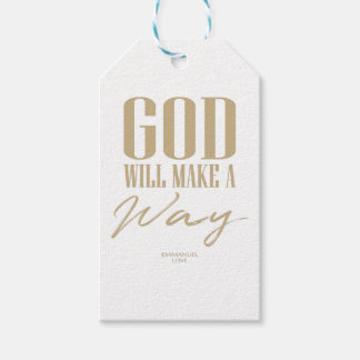 God will make a way gift tags