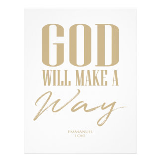 God will make a way letterhead
