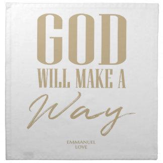 God will make a way napkin