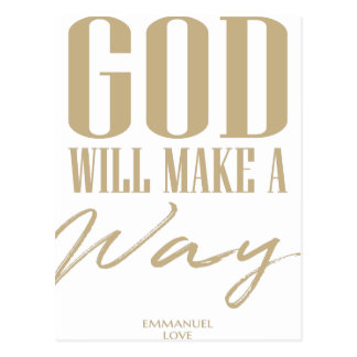 God will make a way postcard