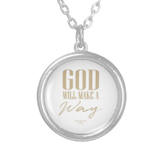 God will make a way silver plated necklace