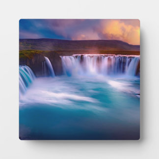 Goðafoss waterfall in Iceland Plaque