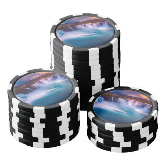 Goðafoss waterfall in Iceland Poker Chips