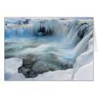 Godafoss waterfall, winter, Iceland 2 Card