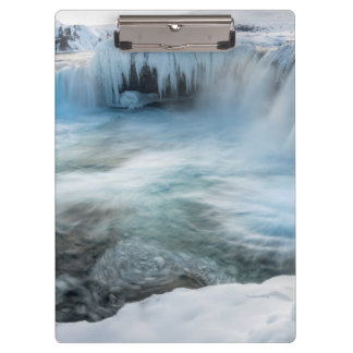 Godafoss waterfall, winter, Iceland 2 Clipboard