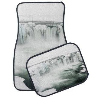 Godafoss waterfall, winter, Iceland Car Mat