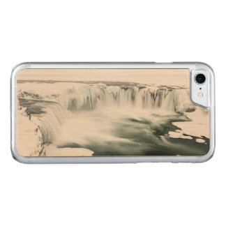 Godafoss waterfall, winter, Iceland Carved iPhone 8/7 Case