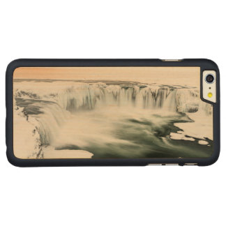 Godafoss waterfall, winter, Iceland Carved® Maple iPhone 6 Plus Case