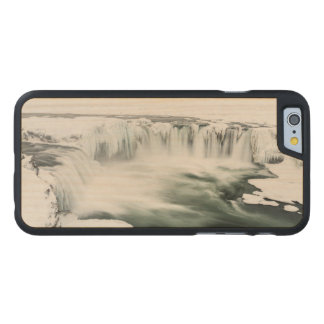 Godafoss waterfall, winter, Iceland Carved® Maple iPhone 6 Slim Case