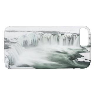 Godafoss waterfall, winter, Iceland iPhone 8/7 Case