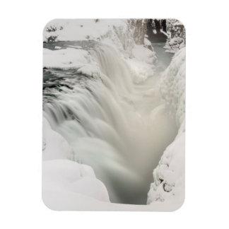 Godafoss waterfall, winter, Iceland Magnet